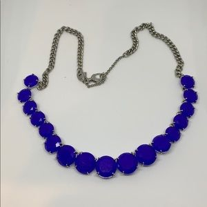 Fossil blue and silver statement necklace